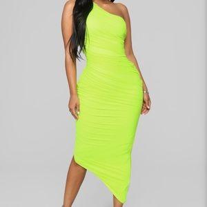 Fashion Nova One-Shoulder Dress